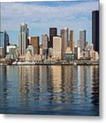 Seattle Reflection Metal Print