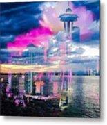 Seattle Rose Metal Print