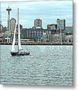 Seattle Sail Metal Print