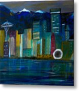 Seattle Skyiline Metal Print