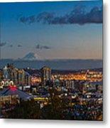 Seattle Skyline Panorama Metal Print