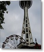 Seattle Space Needles Metal Print