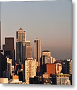 Seattle Sunset Panorama Metal Print