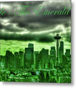 Seattle Washington - The Emerald City Metal Print