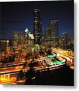 Seattle Zooming C087 Metal Print