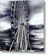 Seattle's Great Wheel Metal Print