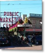 Seattle's Pike Place Market Center  Metal Print