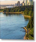 Seawall Along Stanley Park In Vancouver Bc Metal Print