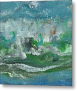 Seawaves Metal Print