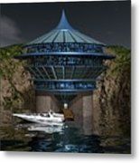 Secluded Condo On The Water Metal Print