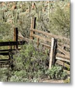Secluded Historic Corral In Sonoran Desert Metal Print
