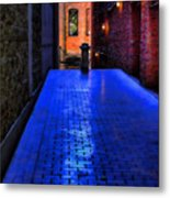 Secluded Patio Metal Print