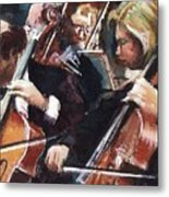Second Cellos Metal Print