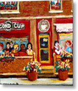 Second Cup Coffee Shop Metal Print