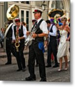 Second Line Wedding On Bourbon Street New Orleans Metal Print