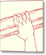 Second Station- Jesus Is Made To Carry His Cross Metal Print