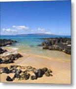Secret Beach Of Kahoolawe And Molokini Metal Print