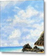 Secret Beach Sky Metal Print