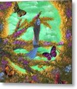 Secret Butterfly Garden Metal Print