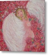 Secret Garden Angel 6 Metal Print