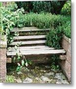 Secret Garden Bench Metal Print
