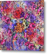 Secret Garden Flowers Metal Print