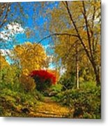 Secret Path At Lafayette Park Landscape Metal Print