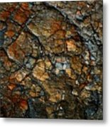 Sedimentary Abstract Metal Print
