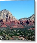 Sedona Arizona City Scape Metal Print