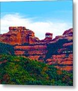 Sedona Arizona Red Rock Metal Print by Jill Reger