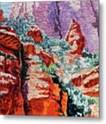 Sedona Arizona Rocky Canyon Metal Print