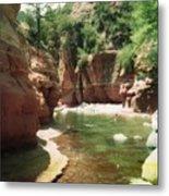 Sedona River Rock Oak Creek Metal Print