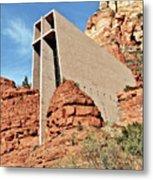 Sedona - The Chapel Of The Holy Cross Metal Print