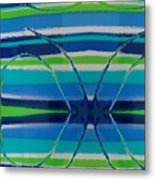 See Thru Blue Metal Print
