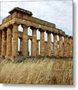 Segesta Greek Temple In Sicily, Italy Metal Print