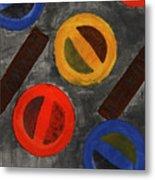 Segments 3 Metal Print