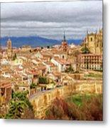 Segovia Cathedral View Metal Print