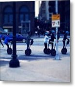 Segway - City Of Chicago Metal Print