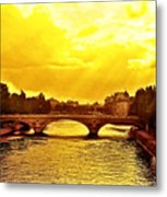 Seine View Metal Print