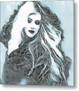 Selenium Blonde Metal Print