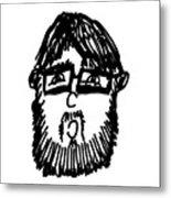 Self Comic Drawing Metal Print by Karl Addison