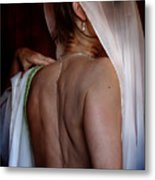 Self Portrait - The Hiding Metal Print by Karen Musick