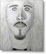 Self-portrait Drawing Metal Print