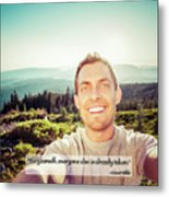 Self Portrait From A Mountain Top Metal Print