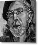 Self Portrait In Grey Metal Print