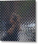Self Portrait In Steel Metal Print by Robert Ullmann