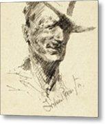 Self Portrait Of Frederic Remington Metal Print