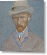 Self-portrait Paris  Summer 1887 Vincent Van Gogh 1853  1890 Metal Print