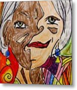 self portrait Picasso style Metal Print