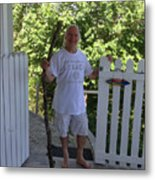 Self Portrait Two - After The Jungle Rescue In Costa Rica Metal Print